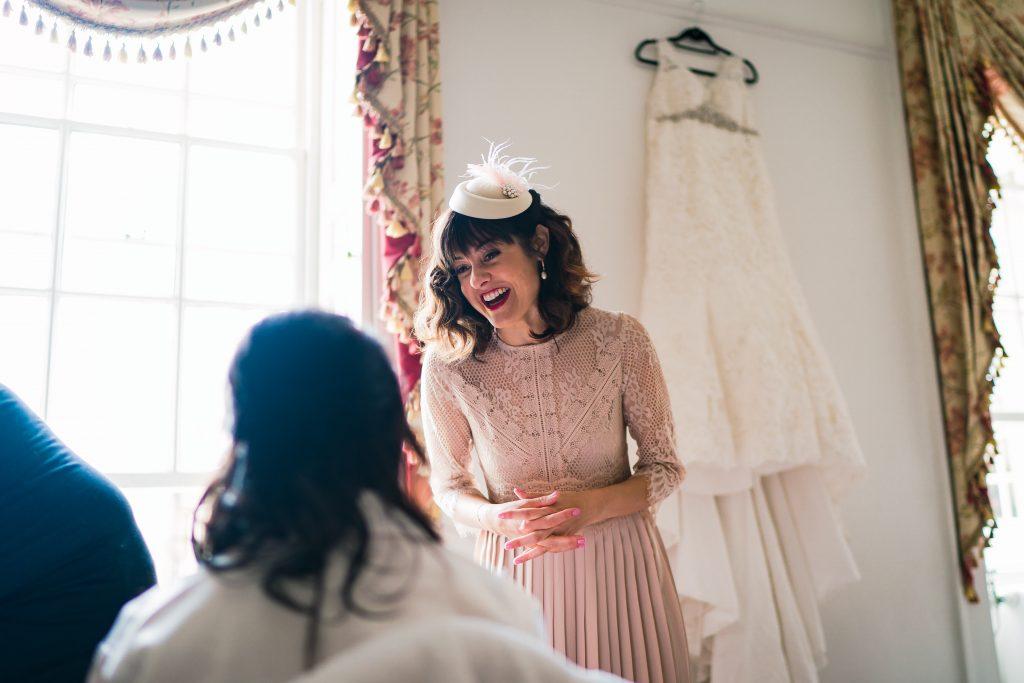 trinity college wedding bridal preperation