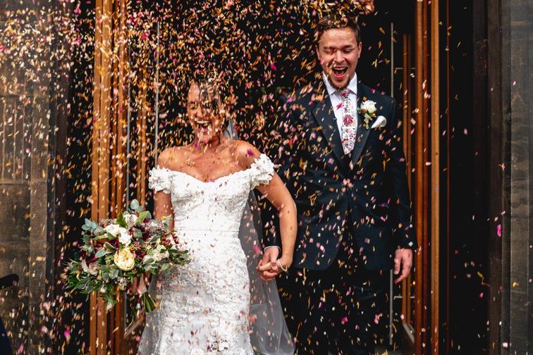 Wedding Confetti ShotUK wedding planner London cambridge oxford randfweddings
