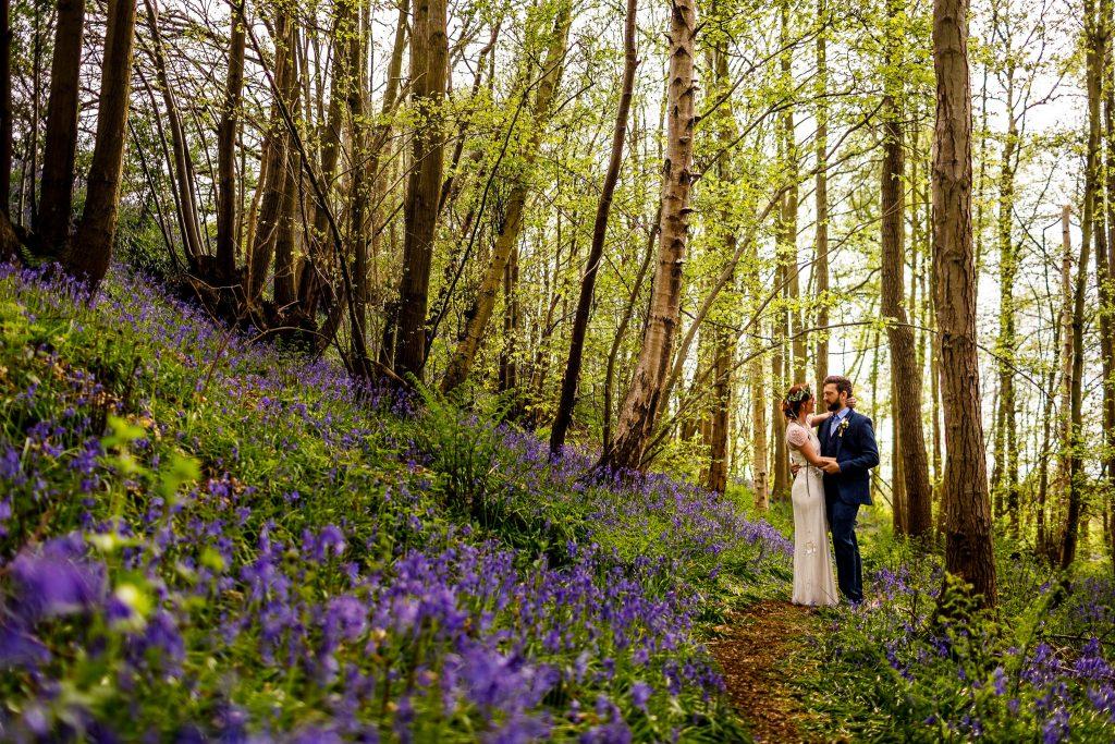 Kent bluebell wedding