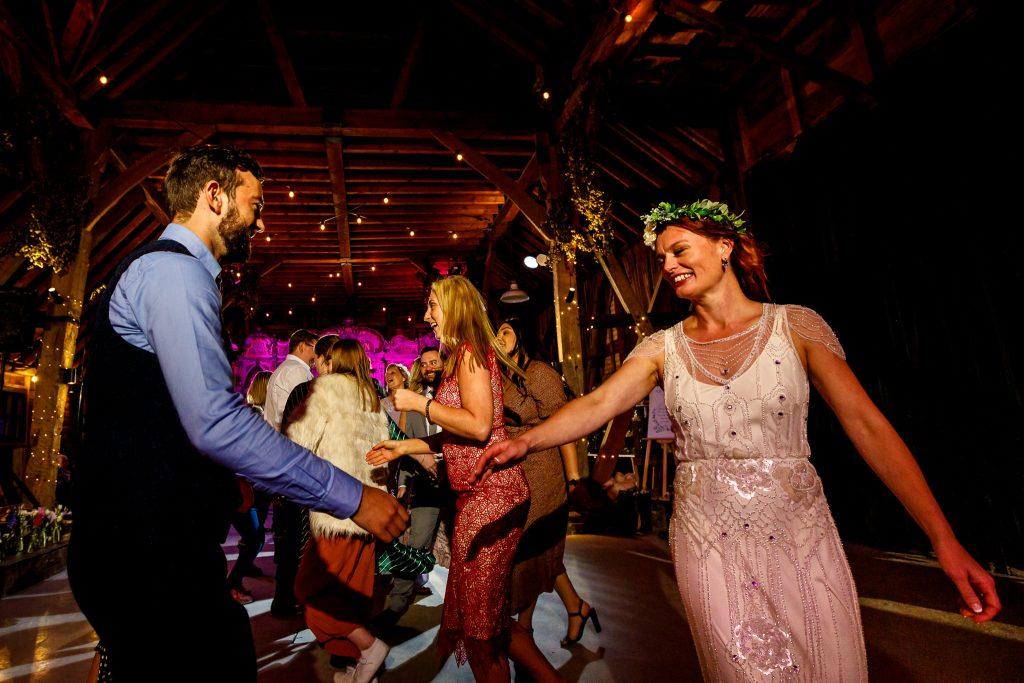 Wedding ceilidh dance