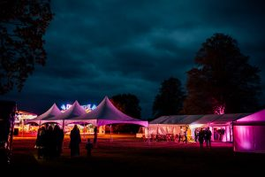 Wedding Marquee by night